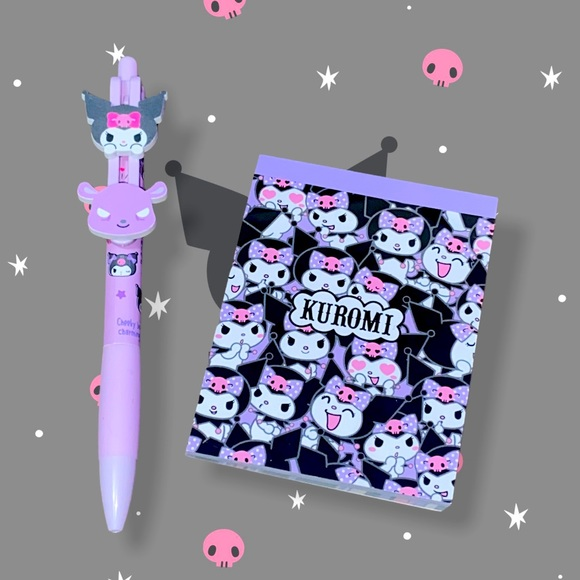Kuromi pen & notebook